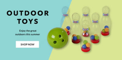 Strike it lucky with our range of outdoor toys