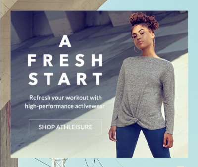 Start the New Year with our high-performance activewear range