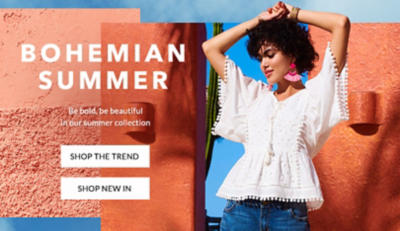 Rock a relaxed vibe in our Bohomian Summer collection