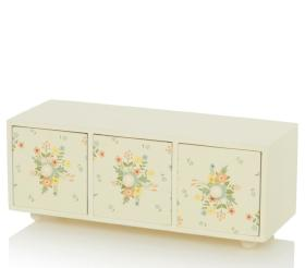 Cream floral drawers