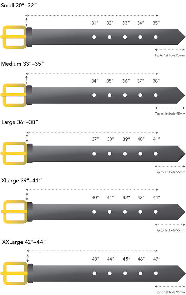 Oct 18,  · the belt size is measured from the middle hole to the junction of the tip of the tongue with the end of the buckle. your size measures from the belt hole you use most. for diagrams check out the