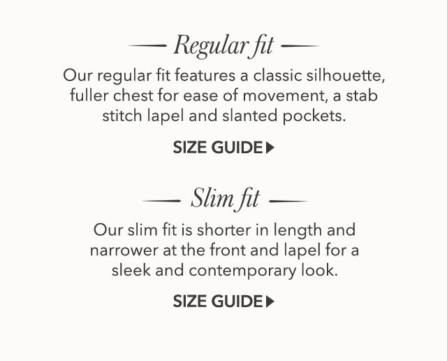 Suits Fit Guide