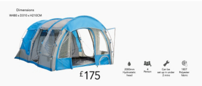 4 PERSON TUNNEL TENT  sc 1 st  George - Asda.com & Our Guide to Camping l Life and Style l George.com