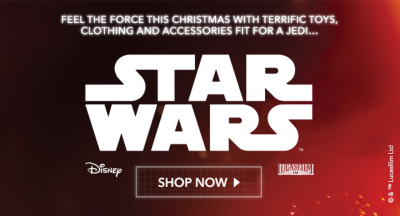 Shop Star Wars accessories and kids' Star Wars toys and clothing now from George.com