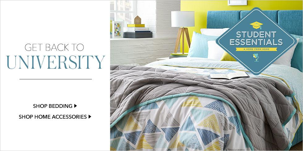 Shop back to university bedding and high-quality bedroom essentials, perfect for students, only at George.com
