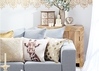 Shop a range of luxury bedding from beaded duvet covers to gold graphic cushions from George.com