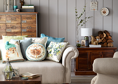 Shop a range of gorgeous rustic and animal print cushions in soft fabrics at George.com