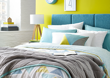 Shop a range of geometric and simple print bedding sets at George.com