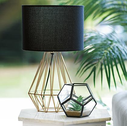 Create dimension and brighten up your mood with a geometric lamp at George.com