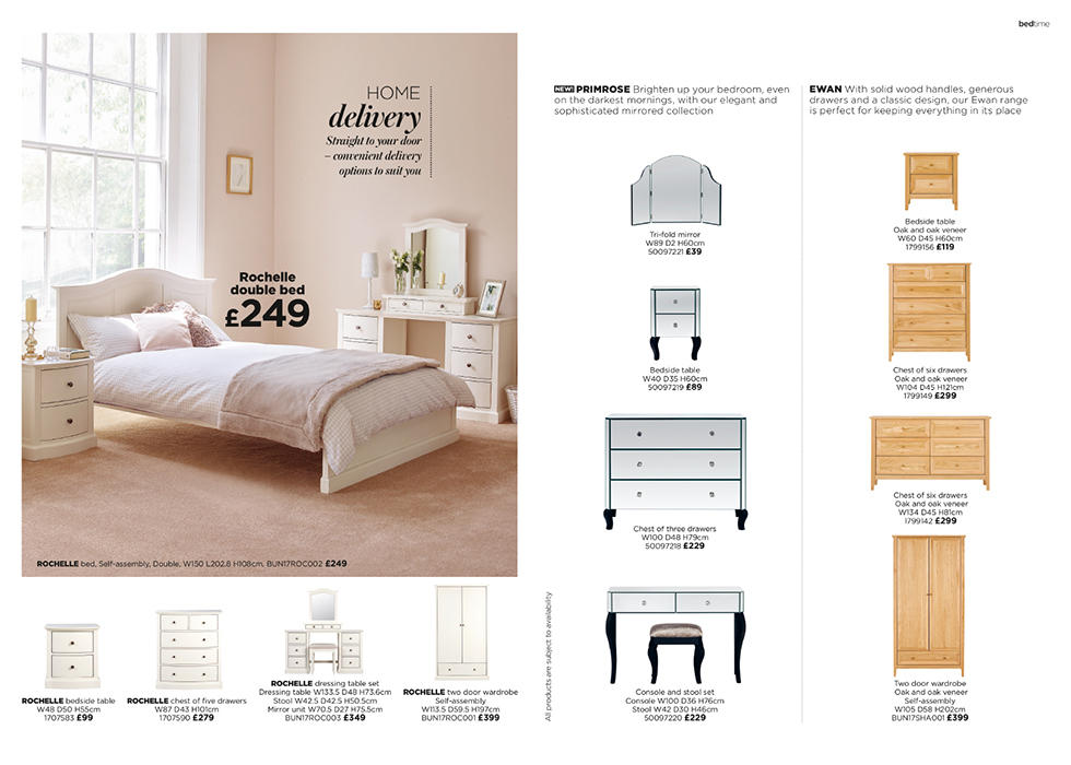 Add instant sophistication to your bedroom with our pretty range of bedroom furniture.