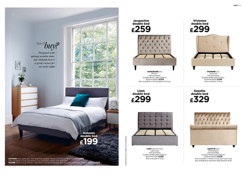 Made with quality and style in mind, our beautiful bed frames are a great excuse for an early night.