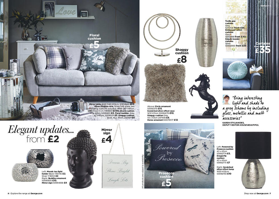 Shop elegant updates with our range of textured cushions, squishy sofas and table lamps.