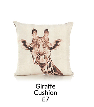 Pick from a range of animal print cushions and gorgeous throws at George.com