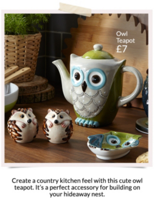 Pick from a range of beautiful animal inspired teapots with a range of accessories available at George at Asda