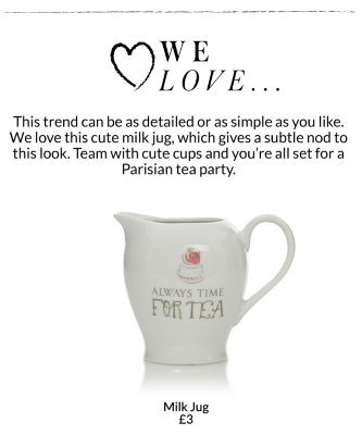 Pick from a range of cute milk mugs and tea sets at George.com