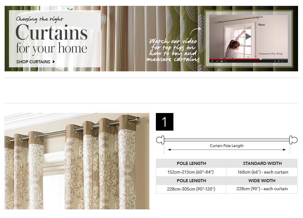 Curtain Size Chart Uk Curtain Menzilperde Net