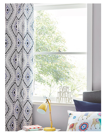 Patterned Eyelet Curtains