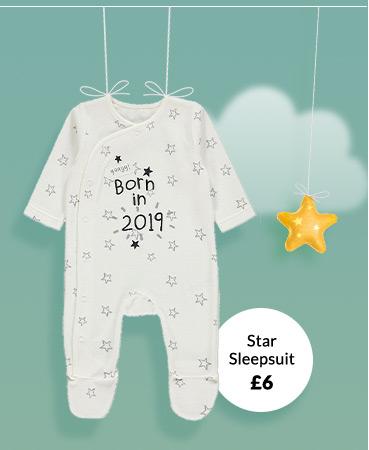 Shop star print sleepsuit