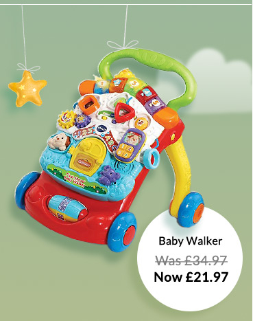 Make those first few steps easy with the Vtech baby walker