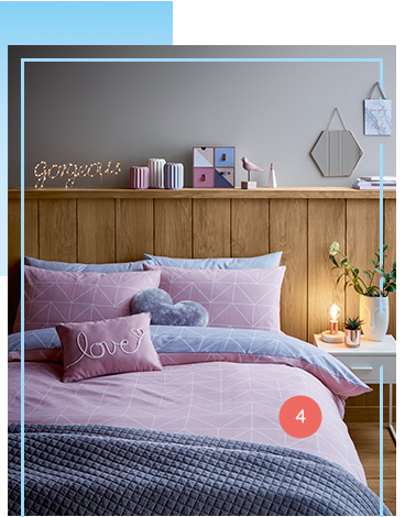 Get cosy with our dreamy bedding range