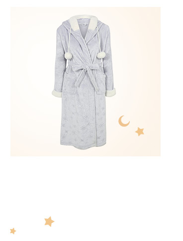 Browse snowflake hooded dressing gown