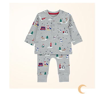 Shop grey Christmas pyjamas