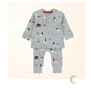 Shop grey Christmas pyjamas
