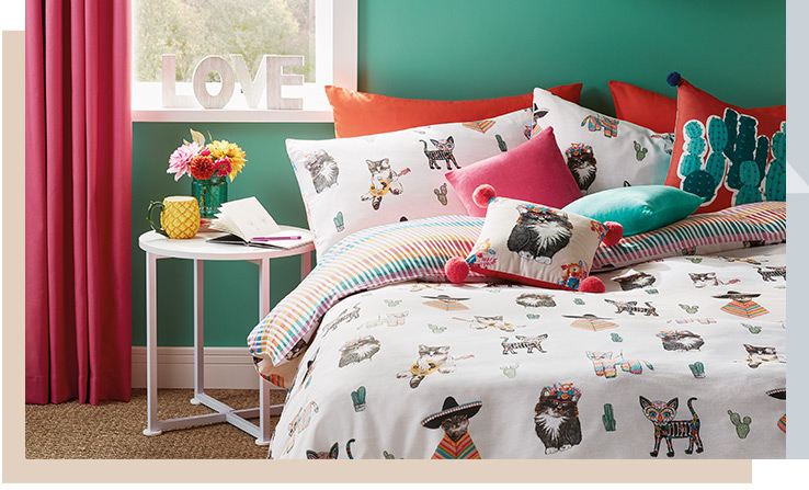 Bring a brighter, more Bohemian feel to your bedroom with our exciting collection
