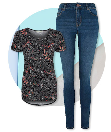 Stock up on everyday essentials such as jeans and stylish tops