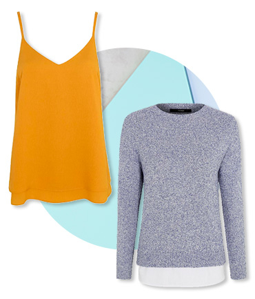Versatile separates, including camisoles and jumpers, will have you covered whatever the weather