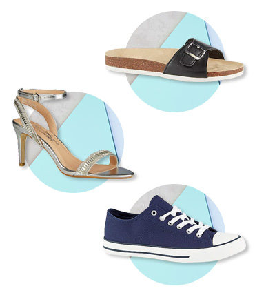 Make sure you have one pair of each type of footwear - trainers, heels and sandals are must-haves
