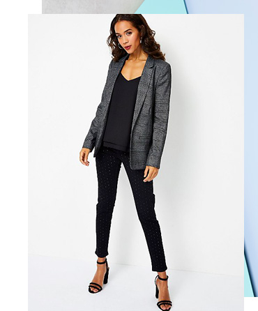 Tick off workwear, depending on your dress code, with a blazer and tailored trousers