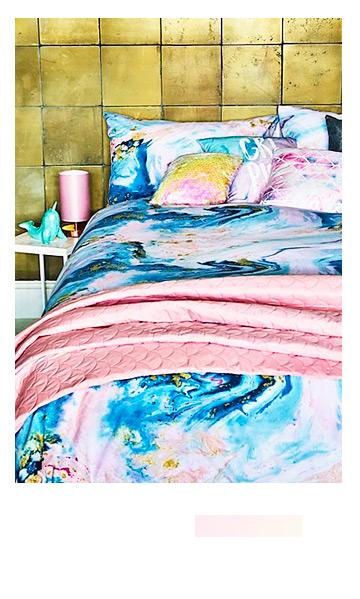 Shop marble-effect bedding