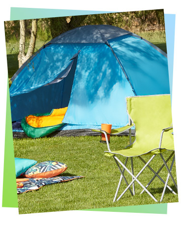 Shop our range of camping essentials, from tents to sleeping bags