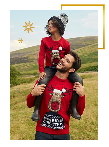 Get the family set for Christmas with our range of matching festive jumpers