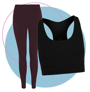 Mix and match your gym clothing with leggings and a performance tank top