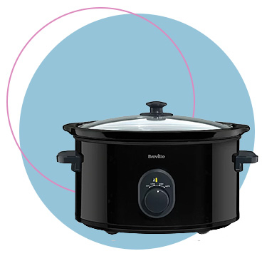 This Breville 4.5 Litre Slow Cooker has an auto-cook setting and removable ceramic bowl that's dishwasher-safe