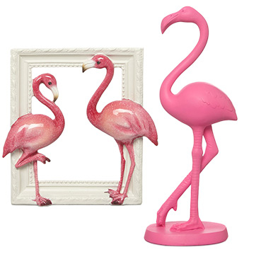 Brighten up the living room with our flamingo-inspired home accessories