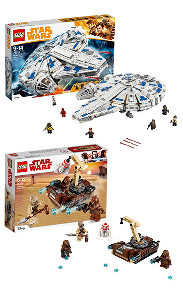 The Millenium Falcon is a must-have for Star Wars fans, or try the Tatooine Battle pack for something a bit easier