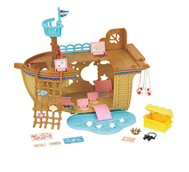 Sail away on an adventure with a treasure ship set