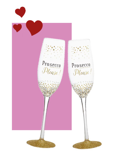 Toast to the future Mr and Mrs with our prosecco glasses