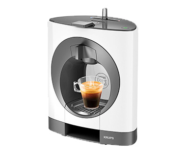 The scroll feature on this coffee machine lets you craft your drink to your ideal volume