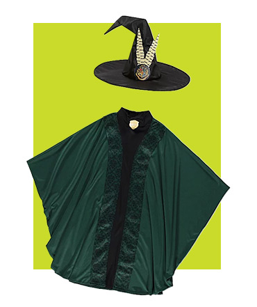 Our Professor McGonagall World Book Day costume comes with a cloak and pointed hat