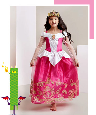 This Sleeping Beauty World Book Day costume comes complete with golden crown