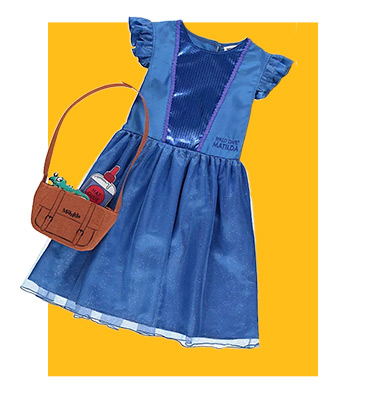 Their Matilda costume for World Book Day is sorted, complete with felt bag