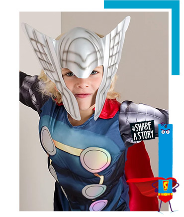 Step up and save the world as the God of Thunder with this Thor World Book Day costume
