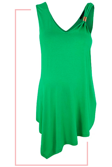 Go bold in a green dress