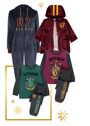 Harry Potter nightwear works throughout the year, with quidditch or house-themed options