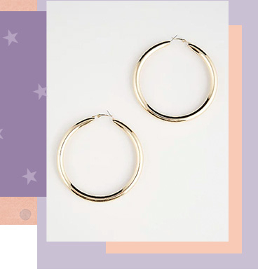 With a huge looped body and glossy gold-tone finish, these earrings will make them feel fabulous