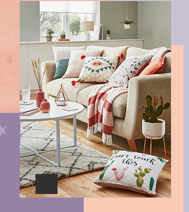 Our collection of cushions includes stylish, textured and novelty options